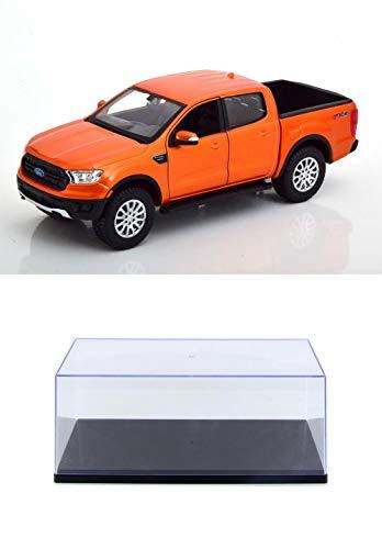 Diecast Pickup Truck w/Display Case - 2019 Ford Ranger, Copper Orange - Maisto...