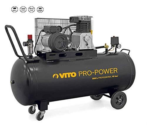 VITO Professional 200 Liter Kompressor 4 PS 15 bar (max) 300L/Min - 200L Kompressor