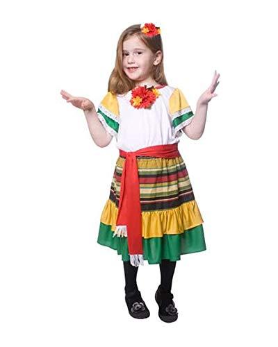 Dress up America Pequeño Niña Mexican Bailarín Disfraz