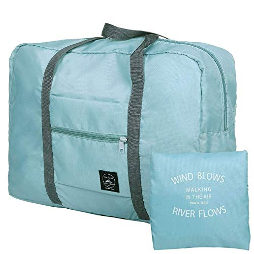 GoodsLand 【スーツケースの持ち手に通せる】 折りたたみ キャリーオンバッグ 小型 軽量 トラベル 旅行 GD-CAROBAG-BL
