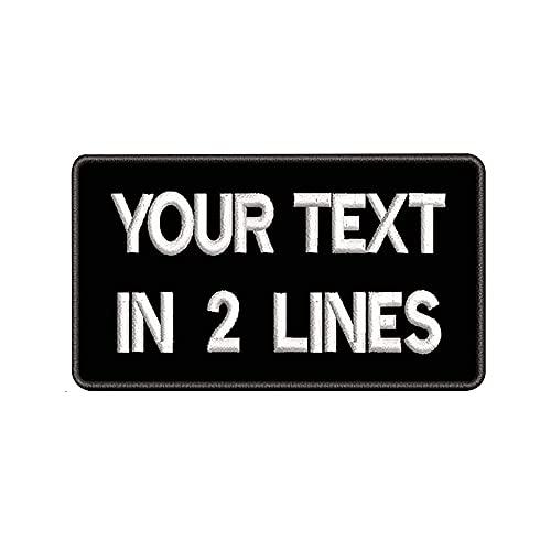 "Parches de nombre bordados personalizados 3.5 ""W x 2"" H, 2PCS Etiqueta de número militar personalizada para múltiples bolsas de ropa Chaleco Chaquetas Camisas de trabajo"