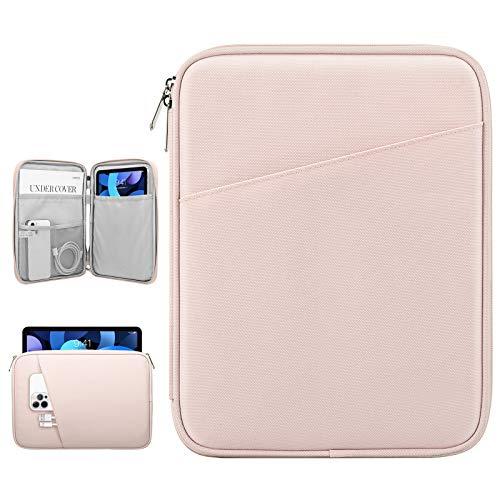 Dadanism 9-11 Zoll Tablet Sleeve Tasche Kompatibel mit iPad 10,2 2020/2019, iPad Pro 11 2018-2021, iPad Air 4 10,9 2020, Galaxy Tab A7 10,4 / Tab S6 Lite 10,4, Wasserdicht Tablette Schutzhülle, Rosa