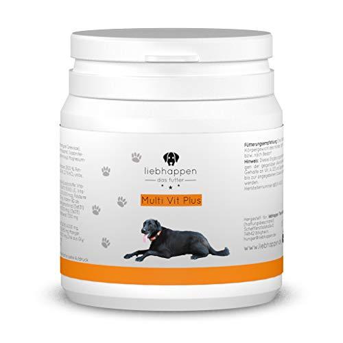 liebhappen Multi VIT Plus Vitamintabletten für Hunde - 100 Tabletten (150g) | Curcuma | Calciumcarbonat | Vitamin B | Vitamine und Mineralien | Immunsystem