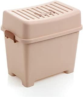 La seguridad Taburete de almacenamiento, Caja de almacenamiento de plástico de color Caja de almacenamiento de juguetes para niños Multifunción Almacenamiento Taburete pequeño Tamaños múltiples Varias