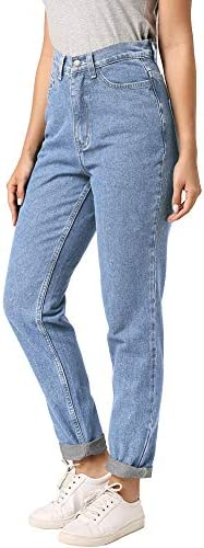 ruisin High Waist Boyfriend Jeans for Women Vintage Sexy Mom Jeans Denim Pants Light Blue 24 product image