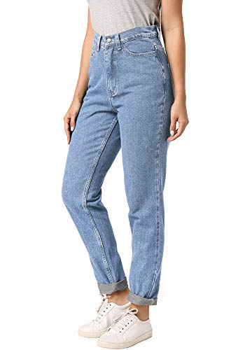 ruisin High Waist Boyfriend Jeans for Women Vintage Sexy Mom Jeans Denim Pants Light Blue 26 x L30
