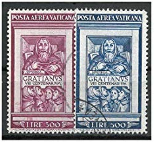 Goldhahn Vatikan Nr. 185-186 gestempelt Flugpostmarken 1951  Briefmarken für Sammler