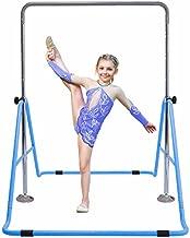 GT Sports Gymnastics Bars Expandable Junior Training Bar Folding Horizontal Bars for Kids (Blue)