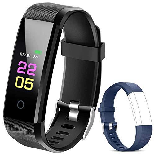 DENSIYA F-Fish Pulsera Actividad Inteligente Pantalla Color Reloj con Pulsómetro Impermeable IP67 Monitor de Ritmo Cardíaco Podómetro Deportiva Fitness Tracker para Mujer Hombre Niños
