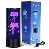 AONESY Lámpara de medusa, lámpara de lava, lámpara de humor para acuario, lámpara LED de fantasía para escritorio, lámpara de medusa redonda para decoración, carga USB, luz nocturna de color