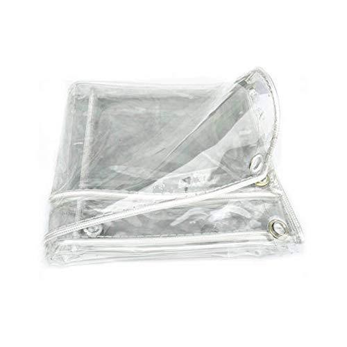 Klar Plane Wasserdicht Schwerlast Verstärkte Kanten PVC Transparent Tarps Für Gartenmöbel, Pool, Auto, LKW (Color : Clear, Size : 1.2X4M)