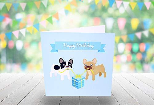 Homo Verjaardagskaart - Franse Bulldogs - 150mm x 150mm (Square Card)