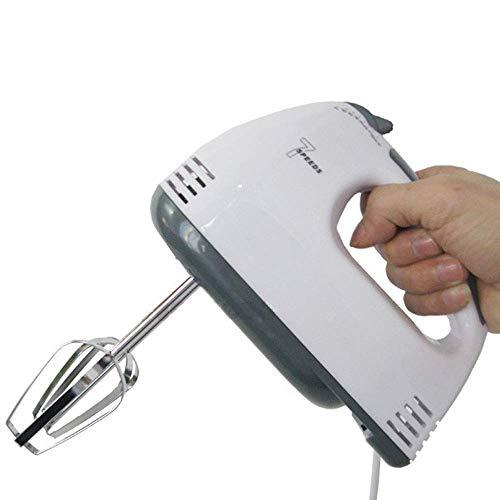 Handmixer, handmixer met 7 snelheidsniveaus, draagbaar, elektrische blender en blender met turbo-knop, professionele mixer met 2 mixers en 2 g
