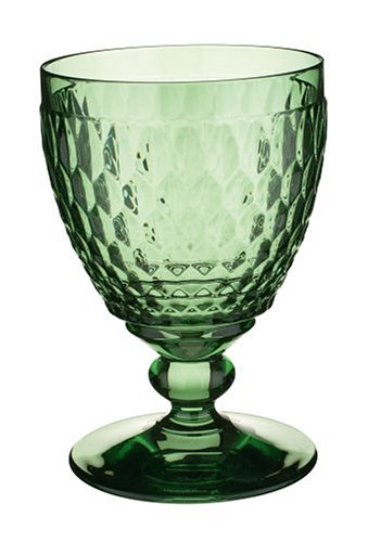 Villeroy & Boch Boston coloured Wasserglas Green, Kristallglas, 144mm