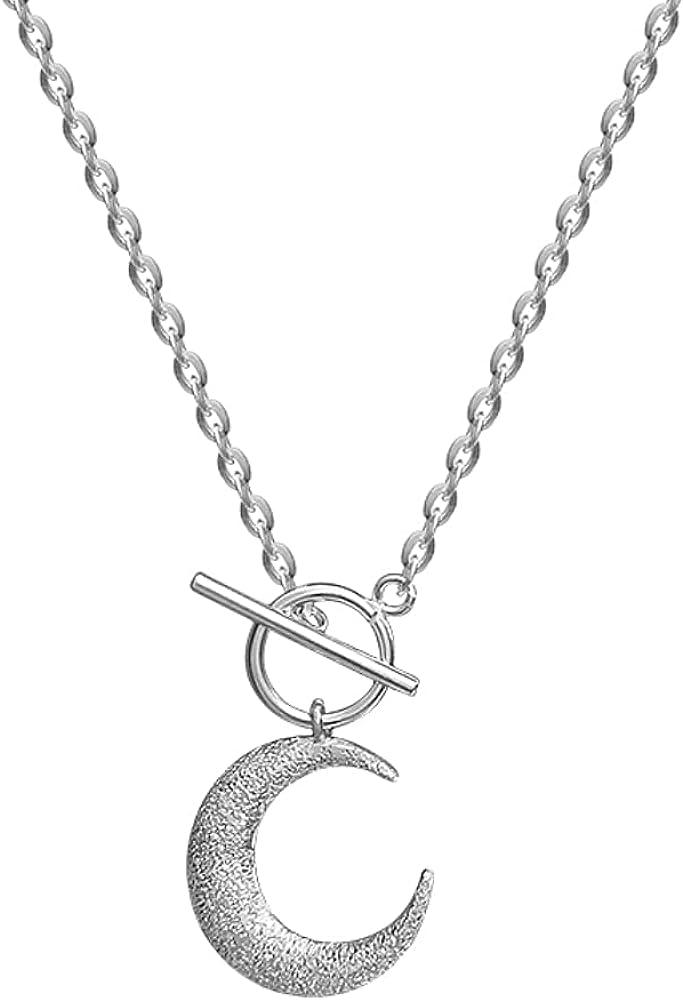 Time sale Helen de Lete Brushed Crescent Geometric specialty shop 925 Moon Sterling Silve