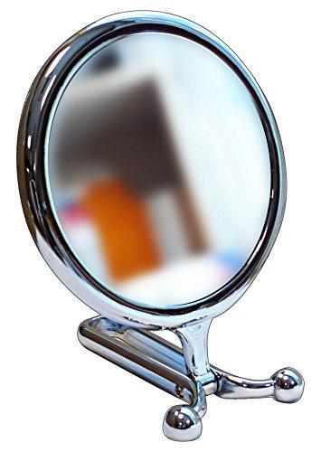 ACCA KAPPA staande spiegel zilver 15 cm - toiletaccessoires.