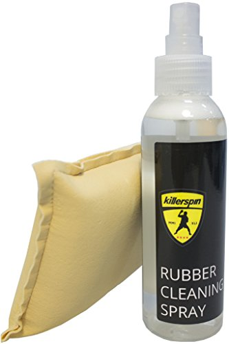 Killerspin Rubber Cleaning Tenis de Mesa – Spray Limpiador Kit, Unisex-Adult, Negro, One...