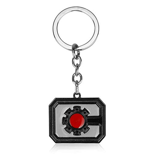 YHX Film and television surroundings, Justice League steel bone logo keychain, pendant