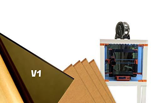 IKEA Lack - Caja para impresora 3D de plexiglás tintado (5 unidades), 3 unidades de 440 mm x 440 mm...
