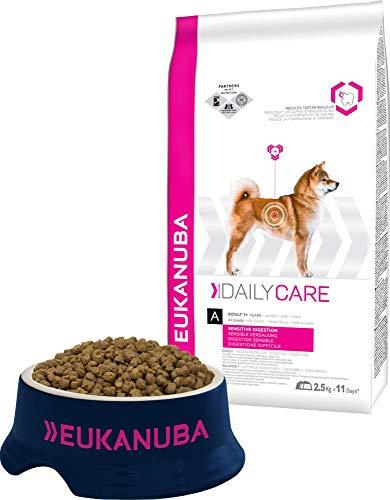 Eukanuba Daily Care Sensitive Digestion Hundefutter - Trockenfutter für Hunde mit sensibler Verdauung, Magenfreundlich mit leicht verdaulichem Reis, 2,5 kg