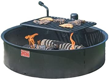 """Pilot Rock 30"""" Commercial Park Campfire Ring FSWBH30/7 - Park Grill - Made in The USA -"""