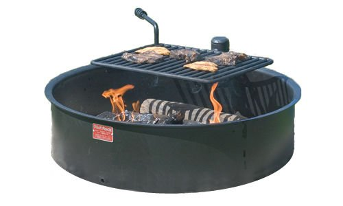 Pilot Rock 30' Commercial Park Campfire Ring FSWBH30/7 - Park Grill - Made...