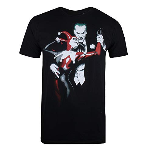 DC Comics Joker & Harley Camiseta, Negro (Black Blk), Medium para Hombre