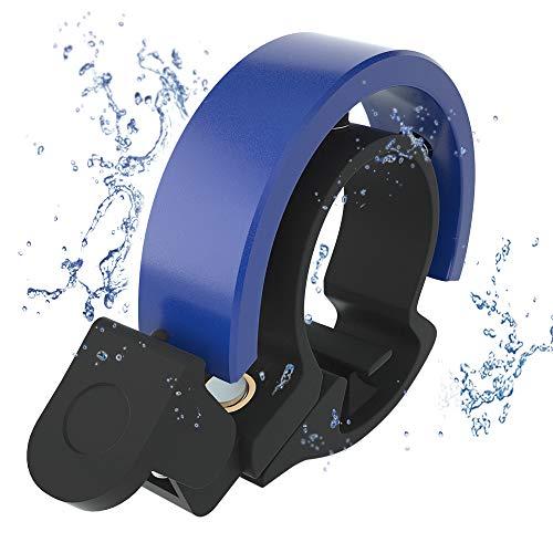 Meowtutu Fahrradklingel, Q Bell laut und hell Radfahren Fahrradglocke MTB Mountainbike Alarm Horn Ring Fahrrad Ring für 22.2-23mm Lenker (Blau, 1 Packung)