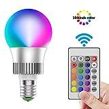 Lampadine Colorate LED RGB Cambiare Colore 10W E27 Lampadina RGB LED Dimmerabile, Lampadin...
