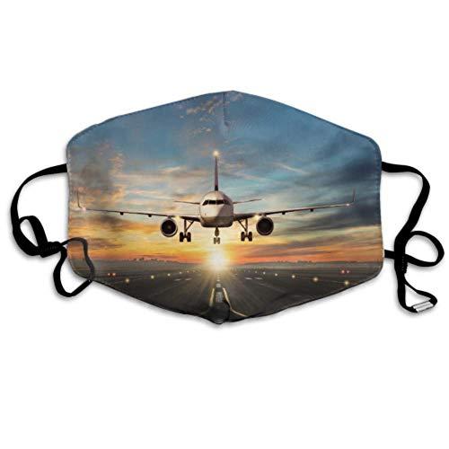Passagiere Flugzeug Landung Flughafen Landebahn Schöne Farbe Staubschutz Weiche Staubschutz