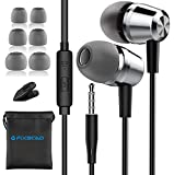 Fixscad Y490, Earphones in-Ear Headphones with Mic, High Sensitivity Microphone – Noise Isolating, High Definition for Music, Earbuds for Samsung, iPhone, iPad, Smartphone, MP3 Players.