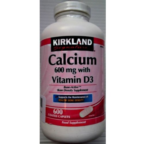 600 mg de calcio Kirkland con Vitamina D3 - 600 cápsulas recubiertas