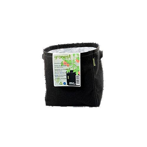 Gronest 1-L 2-L 4-L 8-L 11-L 15-L 19-L 25-L Topf (1, 11-Liter) Textil Blumen Stoff Kübel Container Behälter Grow Hydro-kultur Eckig Aussaattopf Saat-topf Pflanzkorb