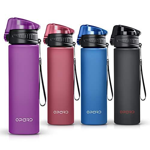 Opard Trinkflasche ist eine Wasserflasche 700ml und Auslaufsicher Sportflasche, aus Tritan,BPA-Frei,die ideale Outdoor Sporttrinkflasche für Kinder,Sport,Fitness,Fahrrad, Fußball,Camping (Lila)