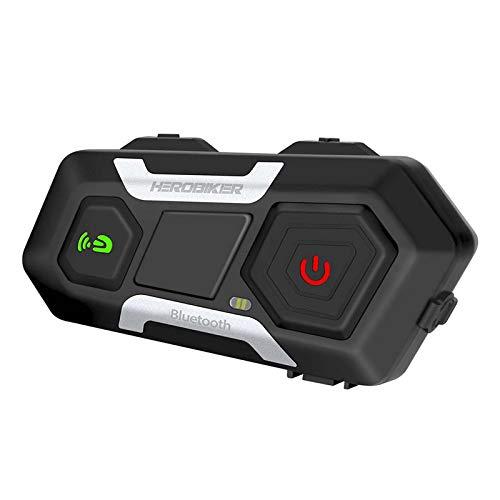 Prettyia Auriculares Bluetooth del Casco del Intercomunicador de La Motocicleta del 1200M, Interfono Inalámbrico con La Pluma Suave Y El Micrófono