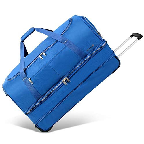 XXL Reisetasche Akropolis   Tasche mit Rollen und Trolley-Funktion   Sporttasche   110 Liter groß - Navy