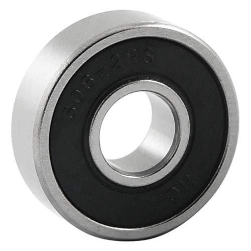 Insmart 608-2RS - Rodamiento de Bolas de Goma (8 x 22 x 7 mm), Color Negro