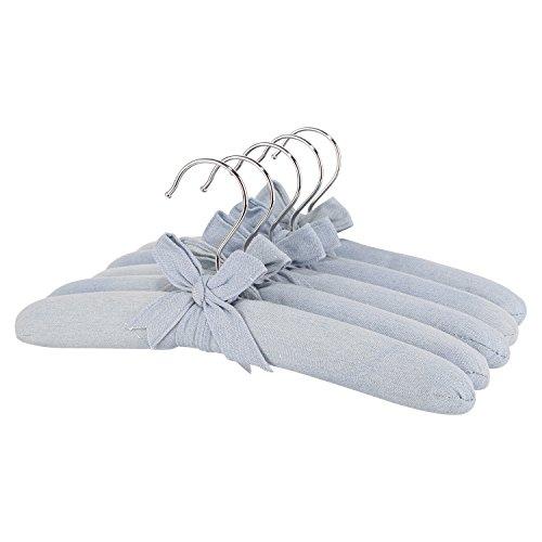 Neoviva Kleiderbügel mit weichem Stoff, 5 Stück, für Männer, Frauen und Kinder, Textil, Solid Skyway Blue, 12.6