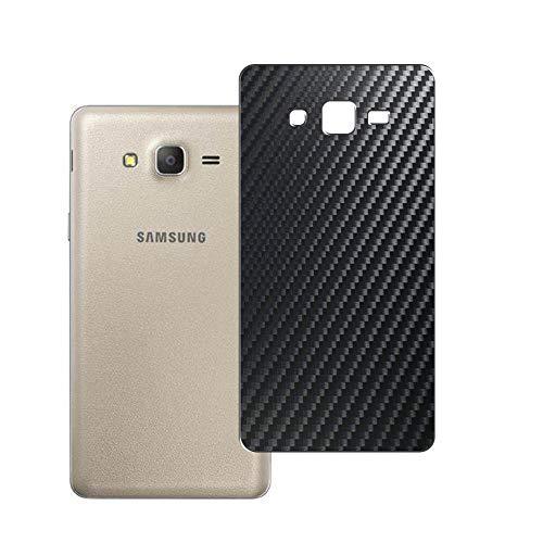 Vaxson 2 Unidades Protector de pantalla Posterior, compatible con Samsung Galaxy On7 Pro 2016, Película Protectora Espalda Skin Cover - Fibra de Carbono Negro