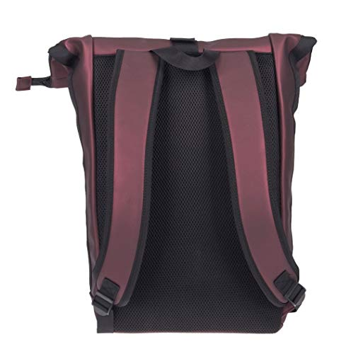 New Rebels Daypack Mart Roll-Top Backpack Metallic Burgundy Large II | Rucksack