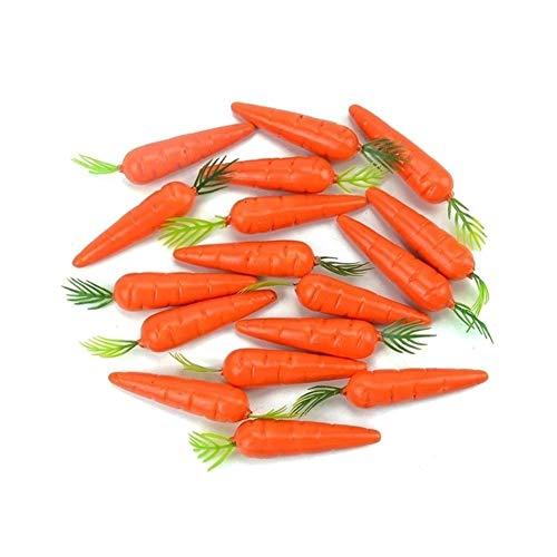 Gute Qualität Günstige 30 Stück Karotten Mini künstliche Kunststoff-Schaum-Möhre Obst und Gemüse Berry Hochzeit Weihnachten Family Kitchen Deco Künstliches Gemüse (Color : Carrot)