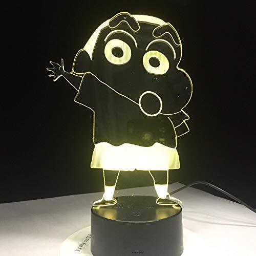 Kureyo Crayon Shinchan 3D Lampada da notte a LED USB n Lampada da notte per animali Lampada da vivaio per bambini
