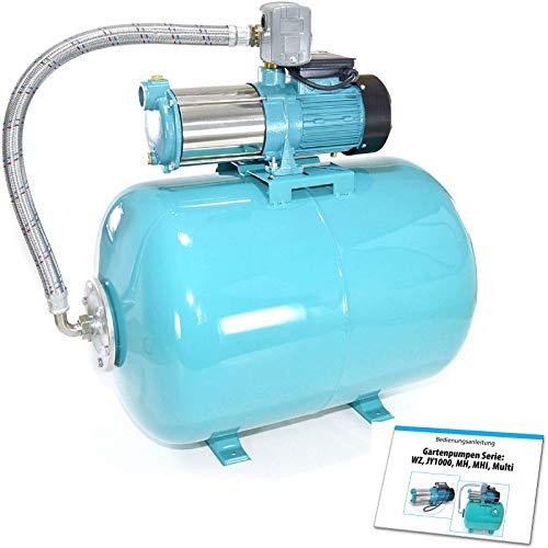 100 L Hauswasserwerk Pumpe 1300 INOX Edelstahl Hauswasserautomat Gartenpumpe