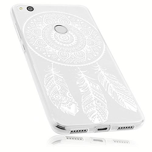 mumbi Funda Compatible con Huawei P8 Lite (2017) Caja del teléfono móvil Avec Motif Attrapeur de rêve, Transparente