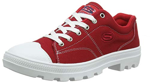 Skechers Women's Roadies True Roots Trainers, Red (Red Canvas/White Leather Trim Red), 5 UK (38 EU)