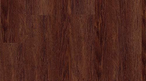 Suelo vinílico adhesivo - Efecto madera - 1 m² - Medidas: 15,2 x 91,4 cm - El precio es por m² (madera oscura 0019)