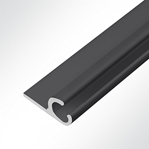 LYSEL® Kederschiene 15x30mm schwarz 2m 45° Schwarz Ø10mm für Keder 6-9mm
