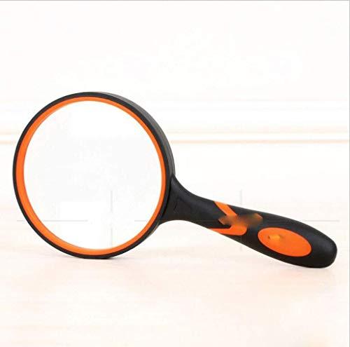 AXZHYX Quemador de Incienso HD Color del Vidrio Lupa de Mano de Leer el Caucho Mango de plástico Negro de Gran Resistencia a Las caídas de Ancianos Estufa de aromaterapia doméstica, Multifuncional d