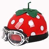 DCLINA Red Strawberry Baseball Cap Style · Vintage Motorcycle Helmet Adults Open-Face Motorbike Helmets Retro Half Helmet for Cruiser Scooter Moped Men and Women Street DOT Certified Helmet