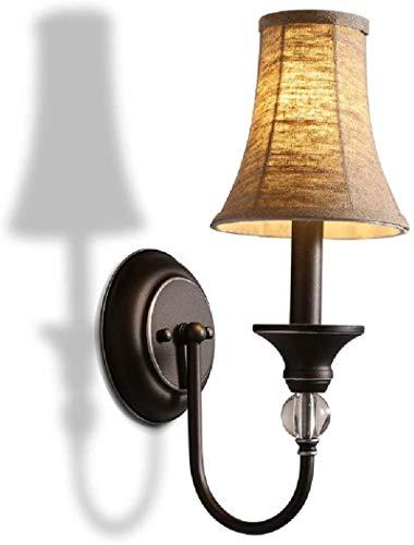 Lámpara industrial, 1-Luz de paño de hierro lámpara de pared pueblo dormitorio nórdico sala de estar restaurante lámpara pasillo hierro entrada pasillo simple pared escono decorativo luces de pared e1